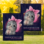 BC awareness - Paws for the cure Flag