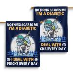 Diabetes awareness - Nothing scares me Flag