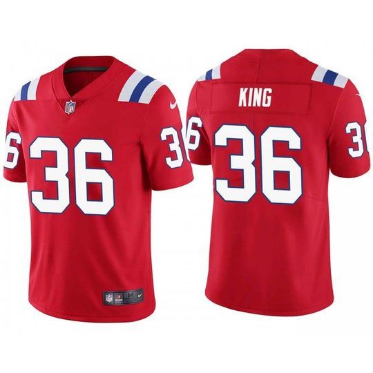 Brandon King New England Patriots Red Vapor Untouchable Limited ...