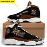 Brown Native American Jordan 13 Sneaker