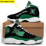 Green Native American Jordan 13 Sneaker