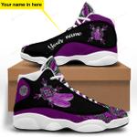 Purple Native American Jordan 13 Sneaker
