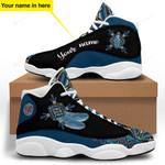 Blue Native American Jordan 13 Sneaker
