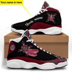 Red Native American Jordan 13 Sneaker