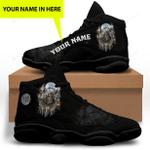 Black Native American Jordan 13 Sneaker