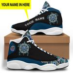Blue Turtle Native American Jordan 13 Sneaker