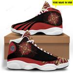 Red Native American White soles Jordan 13 Sneaker