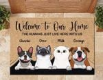 Dog Friends welcom to our home Doormat