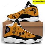 Yellow Native American 1 Jordan 13 Sneaker