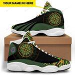 Green Native American 1  JD 13 Sneaker