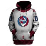 """GDCA100 - """"Grateful Colorado Avalanche"""" Hoodie - Personalized Name & Number"""
