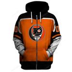 "GDPF100 - ""Grateful Philadelphia Flyers"" Zip Hoodie - Personalized Name & Number"