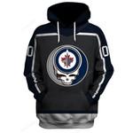 "GDWJ100 - ""Grateful Winnipeg Jets"" Hoodie - Personalized Name & Number"