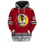 """GDCB200 - """"Grateful Chicago Blackhawks"""" Zip Hoodie - Personalized Name & Number"""