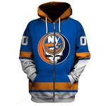 """GDNYI200 - """"Grateful New York Islanders"""" Zip Hoodie - Personalized Name & Number"""
