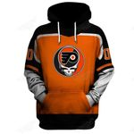 """GDPF100 - """"Grateful Philadelphia Flyers"""" Hoodie - Personalized Name & Number"""