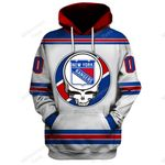 """GDNYR200 - """"Grateful New York Rangers"""" Hoodie - Personalized Name & Number"""