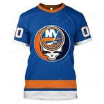 """GDNYI200 - """"Grateful New York Islanders"""" T-Shirt - Personalized Name & Number"""
