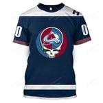 """GDCA200 - """"Grateful Colorado Avalanche"""" T-Shirt - Personalized Name & Number"""