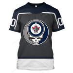 "GDWJ100 - ""Grateful Winnipeg Jets"" T-Shirt - Personalized Name & Number"