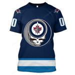 "GDWJ200 - ""Grateful Winnipeg Jets"" T-Shirt - Personalized Name & Number"
