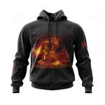 IMMO300 Zip Hoodie - Damned in Black - Personalized Your Name