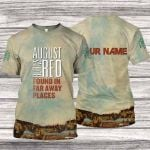 A8BR700 T-Shirt - Found in Far Away Places - Personalized Your Name