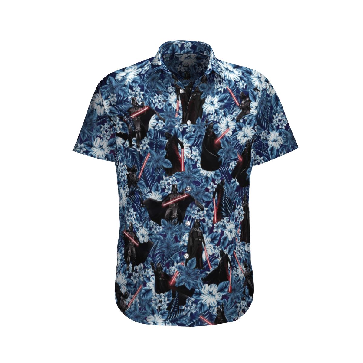Star Wars Darth Vader with Lightsaber Floral Hawaiian Shirt