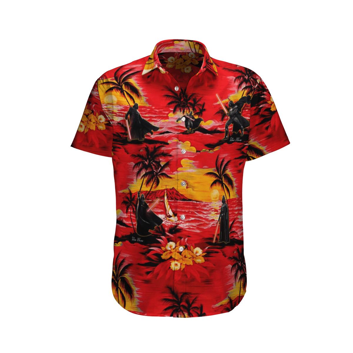 Star wars Darth Vader Sunset Hawaiian Shirt
