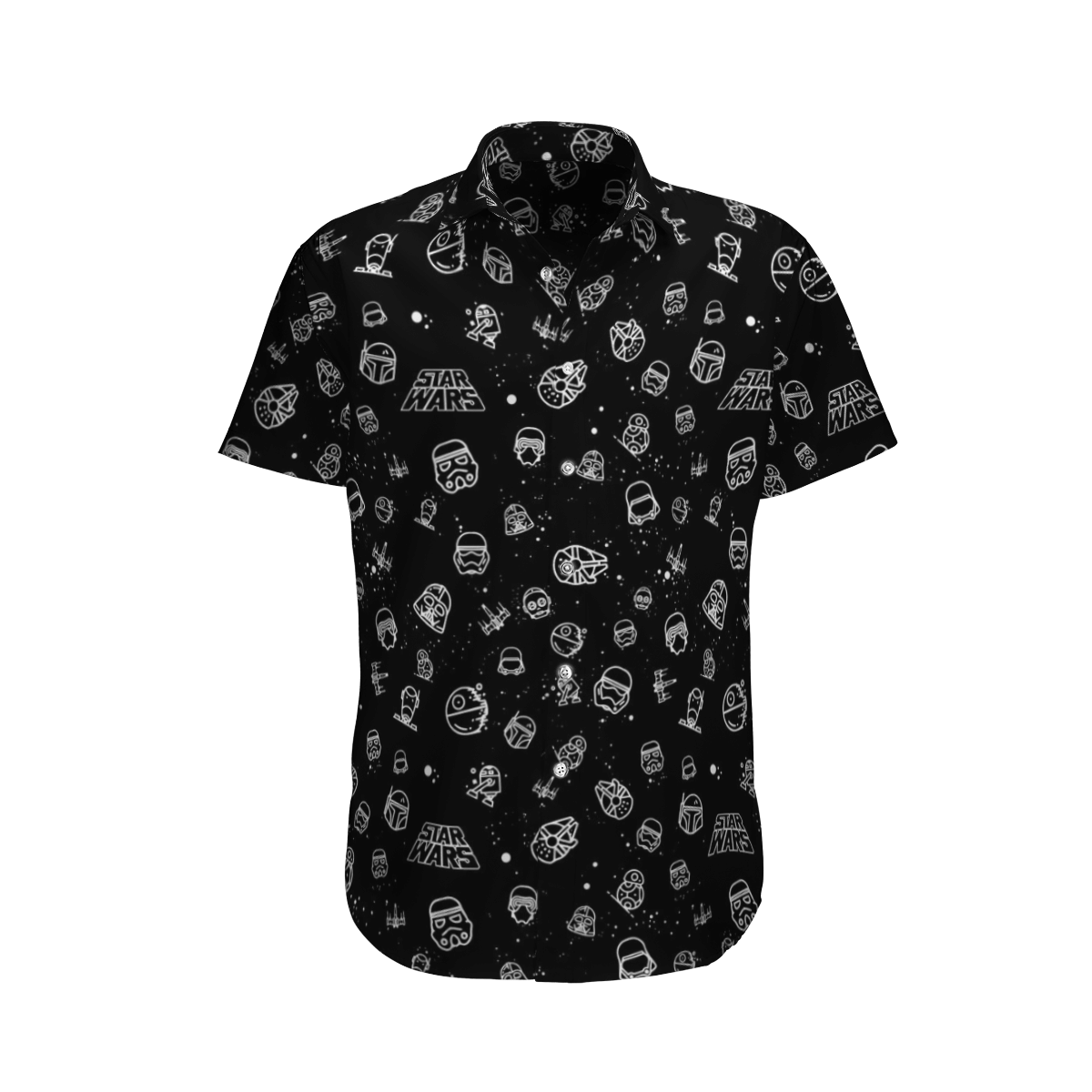 Star wars Heads All in one Black Hawaiian Shirt