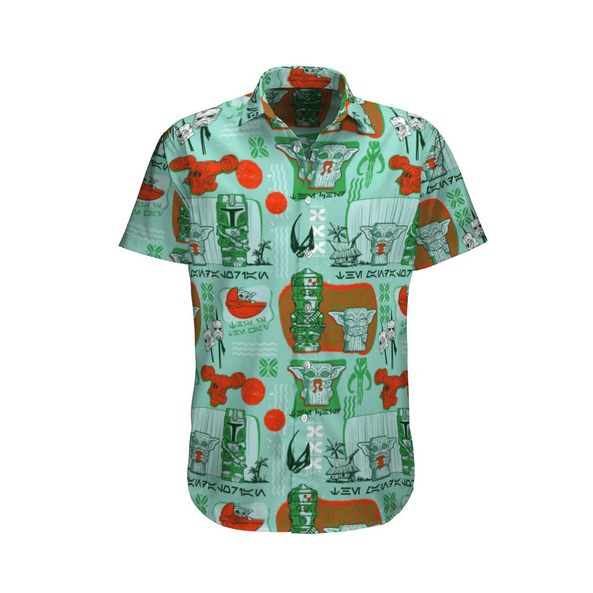 Star wars Yoda Native Green Hawaiian Shirt