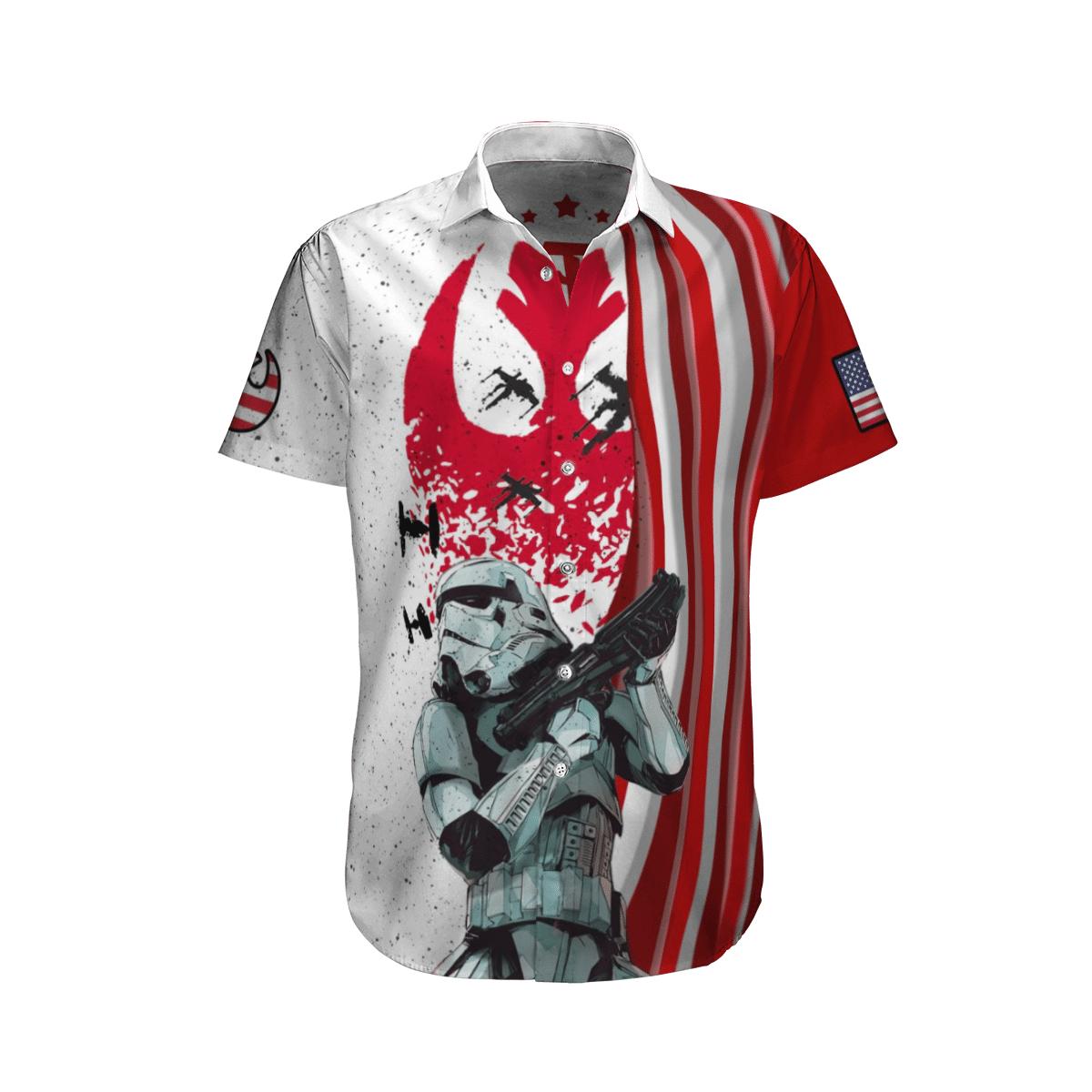 Stormtrooper Star wars USA Hawaiian Shirt