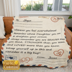 Personalized Blanket To My Daughter Whenever You Feel Overwhelmed