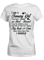 I Am January Girl Clothing - Have Big Heart - Care About Others Clothing Shirt