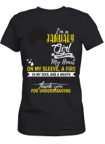I Am January Girl Shirt - Was Born With A Mouth I Can Not Control Clothing