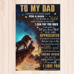 Daughter To Dad Gift For Dad From Daughter Father's Day Gift - Portrait Puzzle
