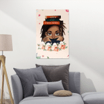 Black Women - Locs Hair Style And Educated Love Book - Poster