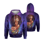 Black Queen Butterfly Color Full - All Over Apparel