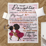 Mother To Daughter Black Family Blanket