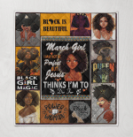 Black Girls Are Born In March Girls Quilt