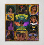 Black Girls Are Born In As A July Girls Quilt