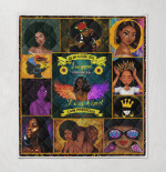 Black Born In Girl As An August Girl Quilt