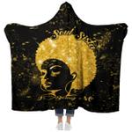 Black Woman - Soul Sista I Love Being Me - Hooded Blanket