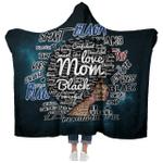 Black Women -  Love Black Afro Mom Natural - Hooded Blanket
