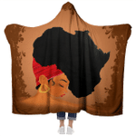 Afro Natural Hair - African Women - Hooded Blanket