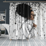 Afro African Headwrap - Headwrap Melting Style - Shower Curtain