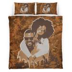Black Couple Art African American Style Bedding Set