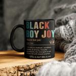 Black Joy Boy Definition Mug