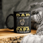 Being A Dad Is An Honor Lion Papa Mug
