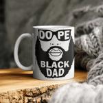 Dope Black Dad Art Men Mug